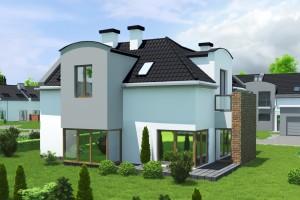 Budynek mieszkalny jednorodzinny Osiedle Białe AOA Deweloper - Tył 1