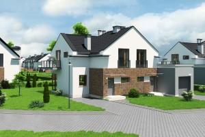 Dom w zabudowie bliźniaczej Osiedle Biale AOA Deweloper - Front 1