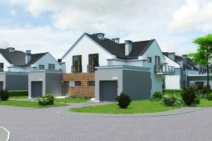 Dom w zabudowie bliźniaczej Osiedle Białe AOA Deweloper - Front 2