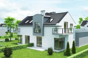 Dom w zabudowie bliźniaczej Osiedle Biale AOA Deweloper - Tył 1