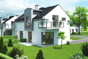Dom w zabudowie bliźniaczej Osiedle Białe AOA Deweloper - Tył 2