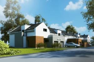 Domy w zabudowie szeregowej Osiedle Biale AOA Deweloper - Front